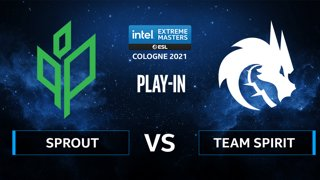 CS:GO - Team Spirit vs Sprout [Dust2] Map 2 - IEM Cologne 2021 - Play-In