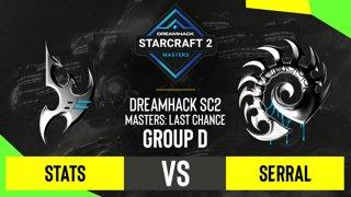 SC2 - Stats vs. Serral - DH SC2 Masters 2020: Last Chance 2021 - Group D