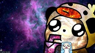 !7 Panda plays video games, wow