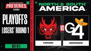 Hokori vs 4 Gringos Game 3 - BTS Pro Series 8 AM: Playoffs w/ Kmart & ET
