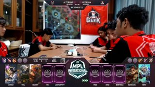 ONE Esports MPL Invitational Day 5 – GEEK FAM vs ALTER EGO – Leo, TDZ and Wolf