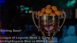 Highlight: NASEF League of Legends Week 3: UniHighEsports Blue vs MDHS Esports