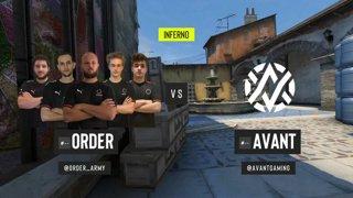 CS:GO - ORDER vs. AVANT [Inferno] Map 1 - ESL Pro League Season 12 - Playoffs - OCE