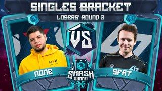 n0ne vs SFAT - Singles Bracket: Losers' Round 2 - Smash Summit 10 | Captain Falcon vs Fox