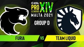 CS:GO - FURIA vs. Team Liquid [Mirage] Map 3 - ESL Pro League Season 14 - Group D