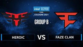 CS:GO - FaZe Clan vs Heroic [Nuke] Map 2 - IEM Cologne 2021 - Group B