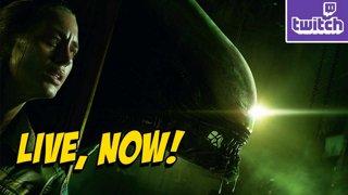 Alien Hunts Man On Halloween Themed Stream !nzxt !ads (10-28)