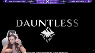 Dauntless Open Beta Launch HYPE Subs get My Partner Flare http://subs.twitch.tv/khaljiit (Even while offline)