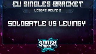 Solobattle vs Levingy - EU Singles Bracket: Losers' Round 2 - Smash Summit 10 | Puff vs Falco