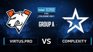 CS:GO - Virtus.pro vs Complexity [Mirage] Map 1 - IEM Cologne 2021 - Group A