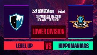 Dota2 - Level UP vs. Hippomaniacs - Game 1 - DreamLeague S15 DPC WEU - Upper Division