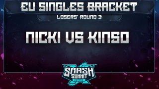 Nicki vs Kins0 - EU Singles Bracket: Losers' Round 3 - Smash Summit 10 | Fox vs Falco