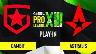 CS:GO - Gambit vs. Astralis [Overpass] Map 1 - ESL Pro League Season 13 - Play-In