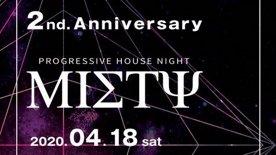 2020.4.18 sat  Progressive House Night Misty  @PLASTIC THEATER
