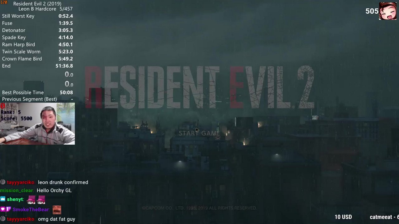 New Game Pc In 51m 09s By Orchlon Resident Evil 2 2019