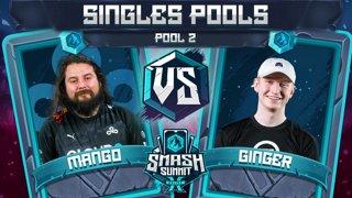 Mang0 vs Ginger - Singles Pools: Pool 2 - Smash Summit 10 | Falco vs Falco