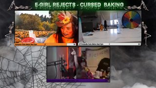 [E-GIRL REJECTS EPISODE 20] Spooky Cake Decorating | Every 20 Subs we Spin the wheel | NEW !youtube !discord