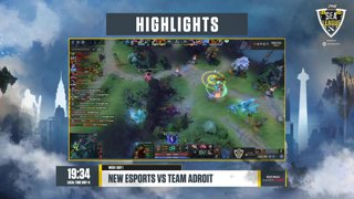ONE Esports Dota 2 SEA League Day 1  NEW Esports vs Team Adroit (0-0)