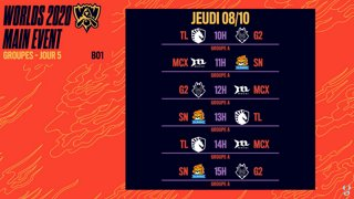WORLDS 2020 - Groupe A - DAY 5 - BO1