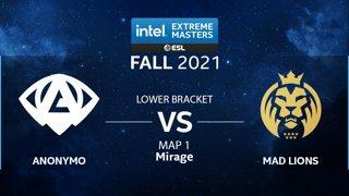 CS:GO - Anonymo vs. MAD Lions [Mirage] Map 1 - IEM Fall Closed Qualifiers 2021 - EU