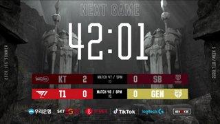 kt vs. SB - T1 vs. GEN [2020 LCK Summer Split]