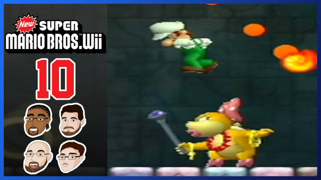 New Super Mario Bros Wii Part 10 World 4 Poker Puffer Fish