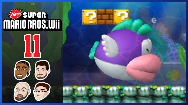 New Super Mario Bros Wii Part 11 World 4 Gulp Gulp Goofgroup