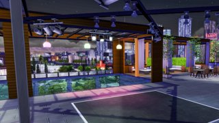 Building a ROOFTOP Bar in Sims 4