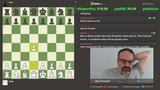Ben Finegold analyzes tryingtolearn1234's recent OTB game