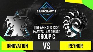 SC2 - INnoVation vs. Reynor - DH SC2 Masters 2020: Last Chance 2021 - Group C