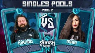 Mang0 vs Magi - Singles Pools: Pool 2 - Smash Summit 10 | Falco vs Falco