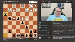 Ben Finegold wins with O-O-O Castles Checkmate after blundering everything