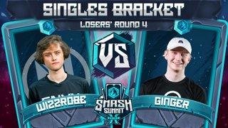 Wizzrobe vs Ginger - Singles Bracket: Losers' Round 4 - Smash Summit 10 | Captain Falcon vs Falco