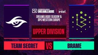 Dota2 - Team Secret vs. Brame - Game 1 - DreamLeague S15 DPC WEU - Upper Division
