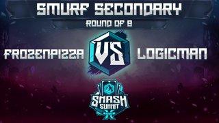 FrozenPizza vs logicman - Smurf Secondary: Round of 8 - Smash Summit 10 | Ice Climbers vs Mario