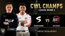 Sicario Gaming vs 100 Thieves | CWL Champs 2019 | Day 4