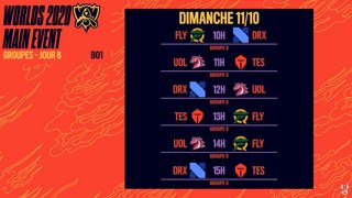 WORLDS 2020 - GROUPE D - JOUR 8 - BO1