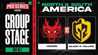 Hokori vs Black N Yellow Game 1 - BTS Pro Series 8 AM: Group Stage w/ rkryptic & neph
