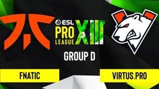 CS:GO - Fnatic vs. Virtus.pro [Train] Map 1 - ESL Pro League Season 13 - Group D