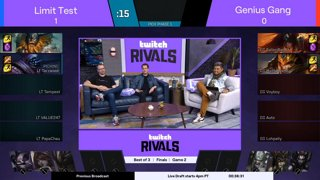 Twitch Rivals: League of Legends Team Draft Showdown III - NA