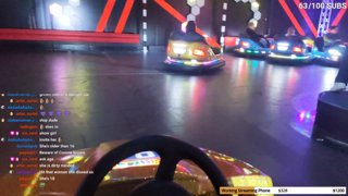 Running over people in bumper cars with Alexa Gabipads and Pimtim 13/02/2021