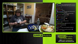 Greek cooking stream with my dad -- Enter the !SimpleMobile !DialAFan contest #ad
