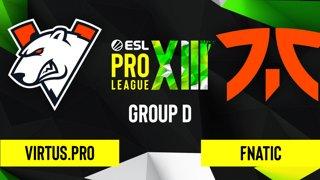 CS:GO - Fnatic vs. Virtus.pro [Dust2] Map 2 - ESL Pro League Season 13 - Group D