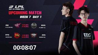 RW vs. EDG | FPX vs. JDG - Week 7 Day 1 | LPL Spring Split (2021)