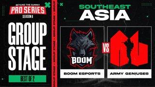 BOOM vs Army Geniuses Game 1 - BTS Pro Series 8 SEA: Group Stage w/ MLP & johnxfire