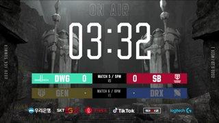 DWG vs. SB - GEN vs. DRX [2020 LCK Summer Split]