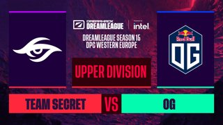 Dota2 - Team Secret vs. OG - Game 1 - DreamLeague S15 DPC WEU - Upper Division