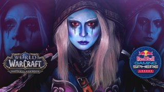Sylvanas Windrunner LIVE Bodypaint Red Bull Gaming Sphere London (Battle for Azeroth Launch Event)