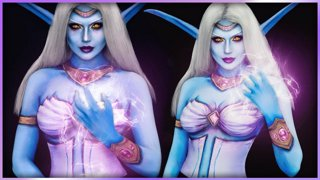 Queen Azshara World of Warcraft Cosplay Body Paint | Djarii MUA