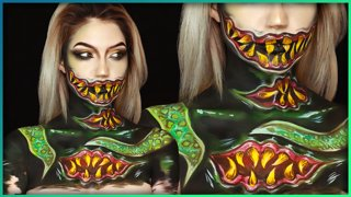 Yogg-Saron World of Warcraft Body Paint Cosplay | Djarii MUA